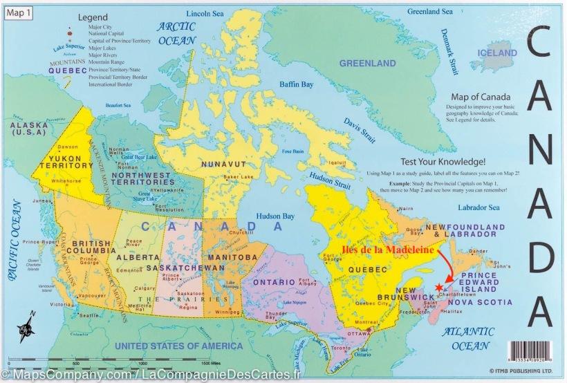 Carte Canada 2017